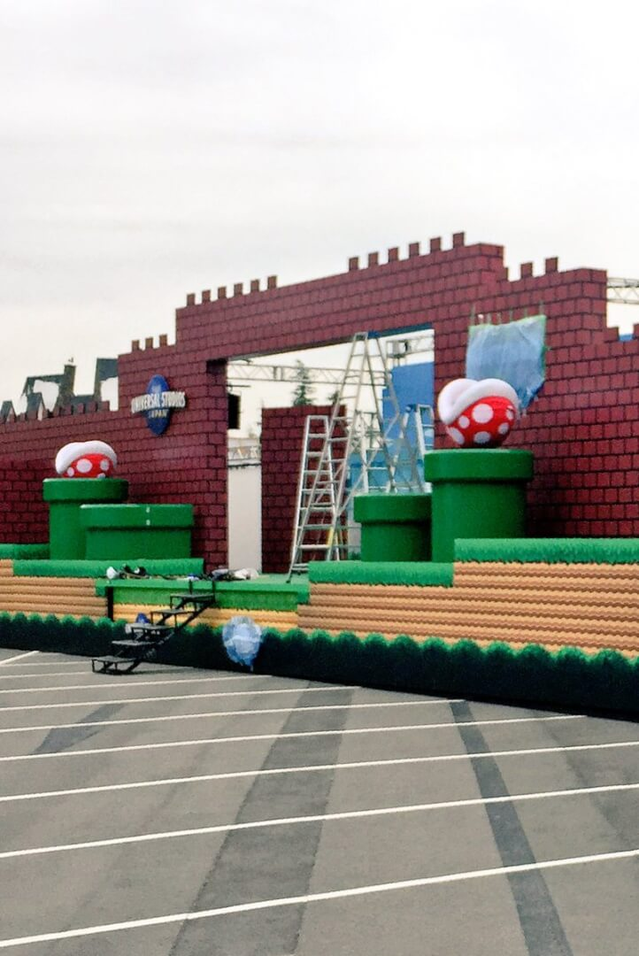 photo universal studios japan readies super nintendo world reveal event with life sized iconic. Black Bedroom Furniture Sets. Home Design Ideas