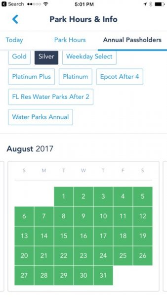 Disneyland annual pass blockout dates in Brisbane