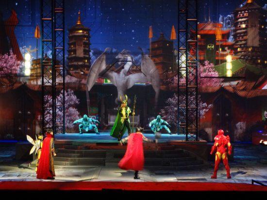 Video marvel universe live tour returns with guardians for Tour avengers
