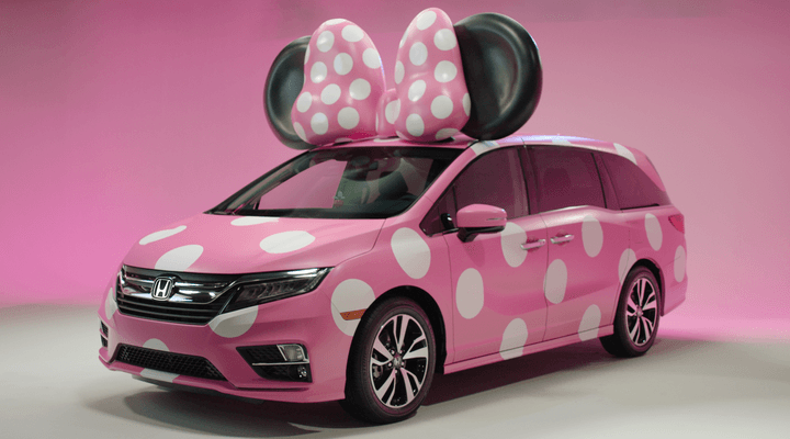 Honda Odyssey And Disney Create A One-Off Minnie Van