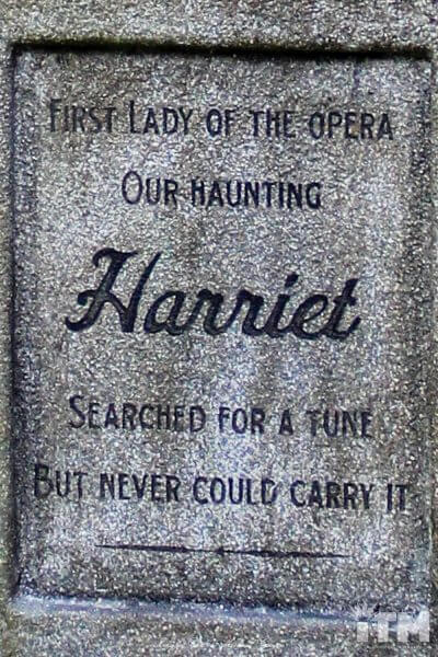 Harriet Burns Haunted Mansion headstone