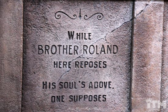 "Roland ""Rolly"" Crump Haunted Mansion headstone"
