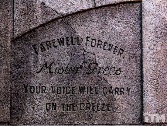 Ken Anderson Haunted Mansion headstone