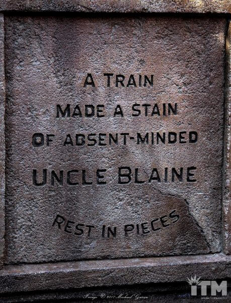 Blaine Gibson Haunted Mansion headstone