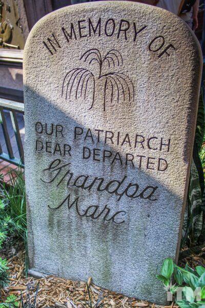 Marc Davis Haunted Mansion headstone
