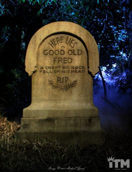 Fred Joerger Haunted Mansion headstone