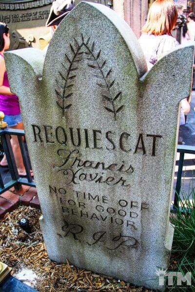 """Xavier """"X"""" Atencio Haunted Mansion headstone"""