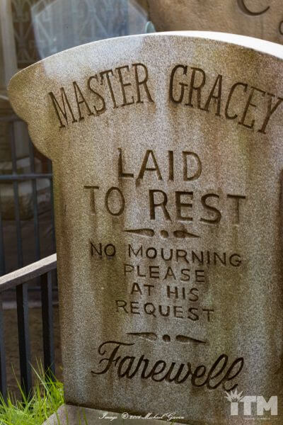 Master Gracey Haunted Mansion headstone