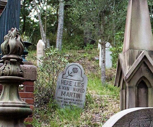 Bill Martin Haunted Mansion headstone