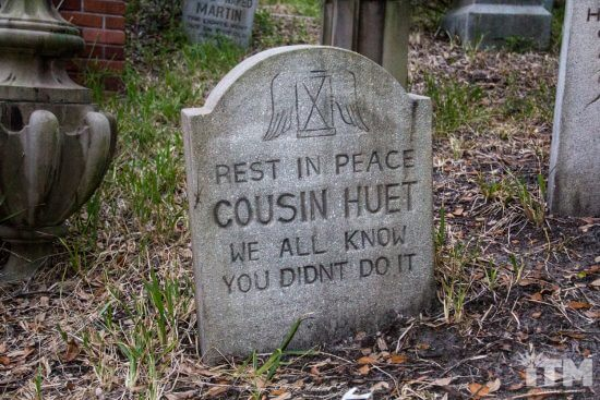 Cliff Huet Haunted Mansion headstone