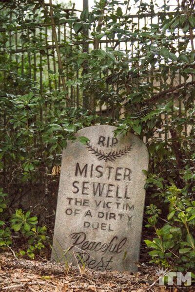 Bob Sewell Haunted Mansion headstone