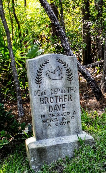 Dave Burkhart Haunted Mansion headstone