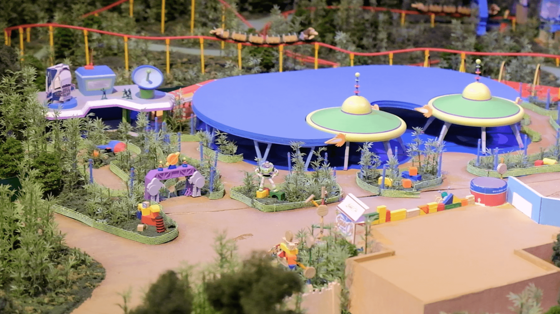 toy story land model now on display at walt disney world revealing