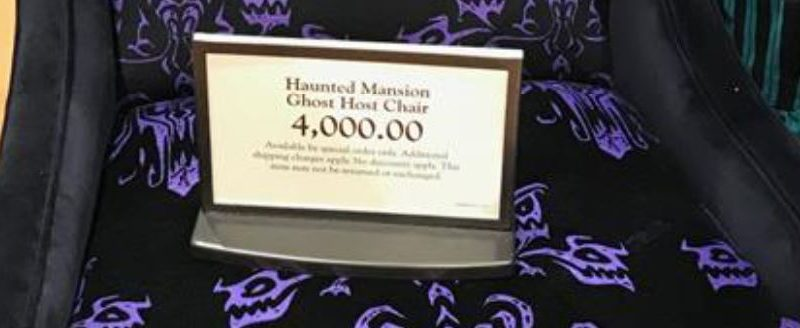 $4,000 haunted mansion 'ghost host chair' materializes at walt