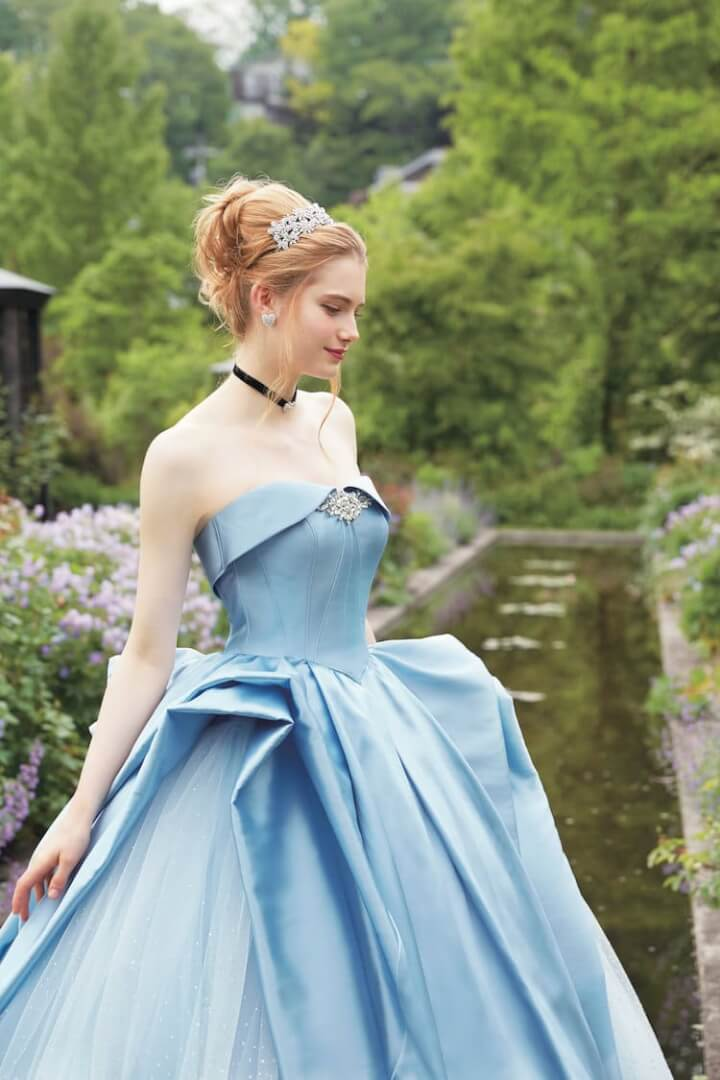 New disney wedding dress collection will make any bride a princess a well known wedding dress manufacture from japan altogether the collection contains fourteen different dresses all in theme with disney princesses ombrellifo Gallery