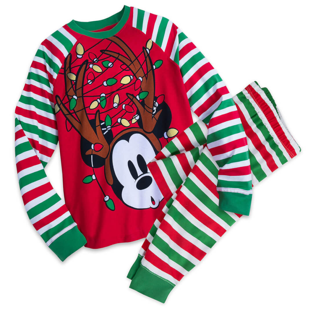 8f8f63725 Another item from the Mickey and Minnie Mouse Holiday Family Sleepwear  Collection, this PJ set for Men is ideal for Dad. Mickey gets into the  holiday spirit ...