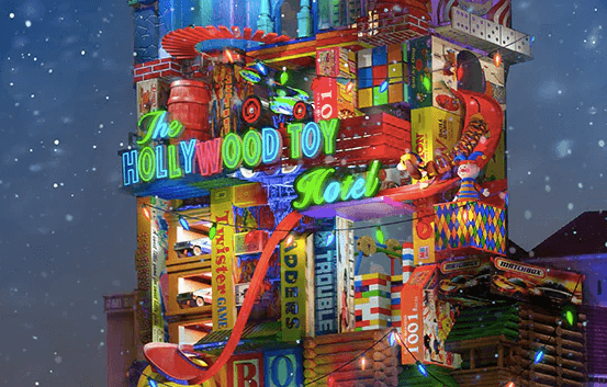Walt Disney World Unveils Colorful Hollywood Toy Hotel Concept Art For Sunset Seasons Greetings At S Studios