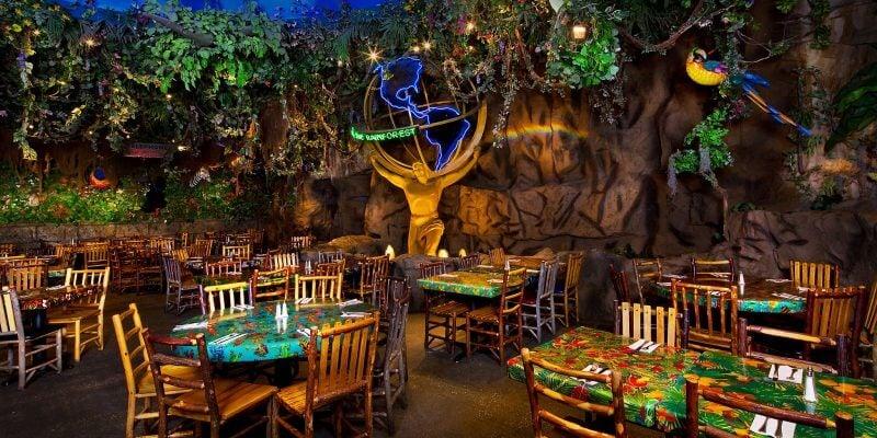 Rainforest Cafe Anaheim Disneyland