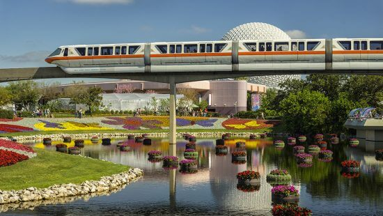 Monorail over Epcot