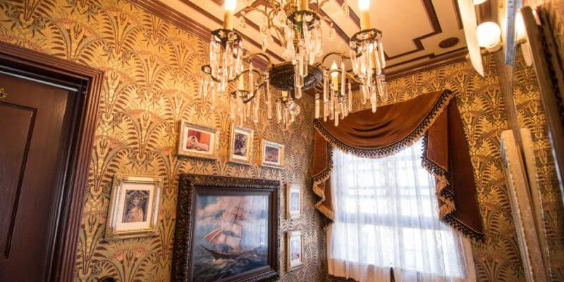 Haunted Mansion inspired rest (in peace) room