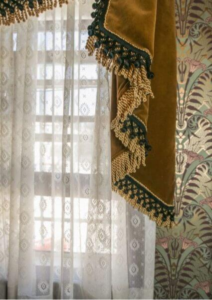 Custom made curtains and lace