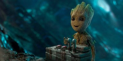 baby groot with a bomb
