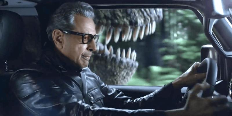 """VIDEO: """"Jurassic Park"""" star Jeff Goldblum faces a T-rex ..."""
