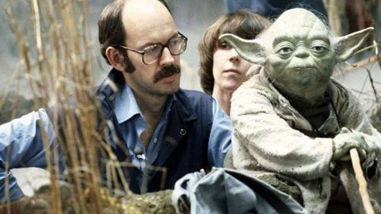 frank oz with yoda puppet