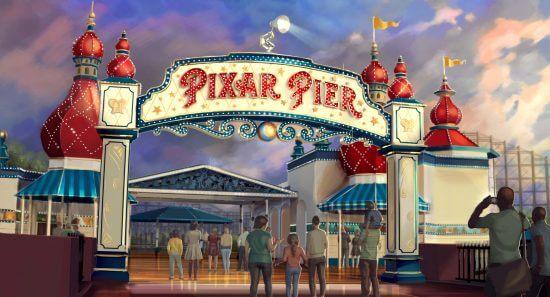 Rendering of the Pixar Pier entrance, Disney California Adventure Park