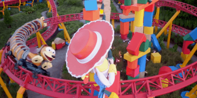 Toy Story Land flyover