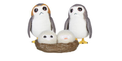 Chewbacca and porgs