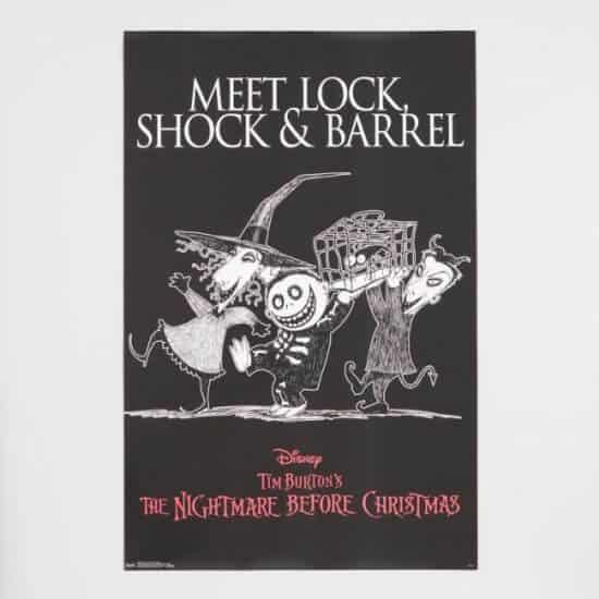 Disney's Nightmare Before Christmas Lock Shock Barrel Poster