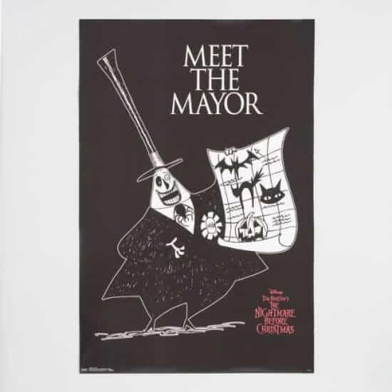 Disney's Nightmare Before Christmas Meet The Mayor Poster