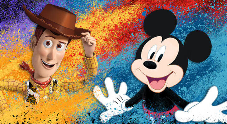 D23 Expo Woody and Mickey Mouse