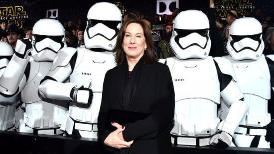 kathleen kennedy surrounded by stormtroopers