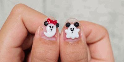 Disney Halloween nail art