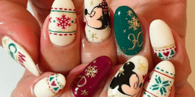 Disney Holiday Nail Art