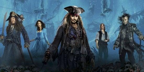 Johnny Depp and the cast of POTC Dead Men Tell No Tales