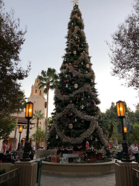 Christmas tree in Disney California Adventure