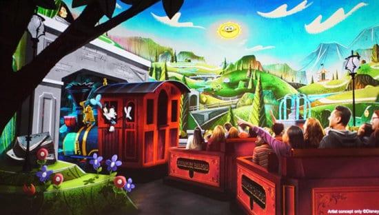 Mickey and Minnie's Runaway Railroad art