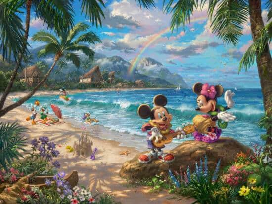 Mickey and Minnie in Hawaii