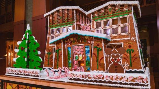 Gingerbread house at Disney's grand californian hotel