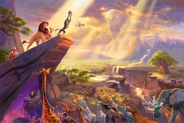 Thomas Kinkade Disney Art - The Lion King