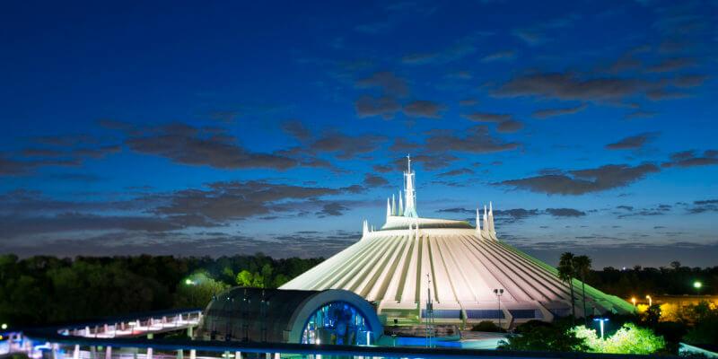 Space Mountain at the Magic Kingdom