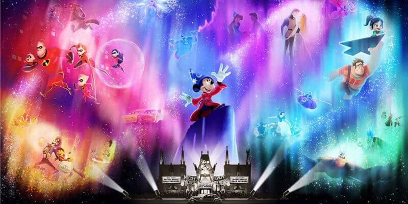 Wonderful World of Animation nighttime show