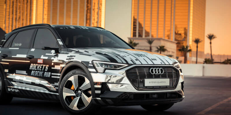 Audi e-tron equipped with Rocket's Rescue Run