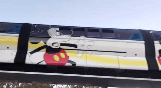 Mickey Mouse 90th Anniversary Monorail wrap at Disneyland Resort