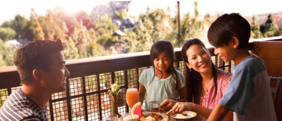 family on grand californian balcony