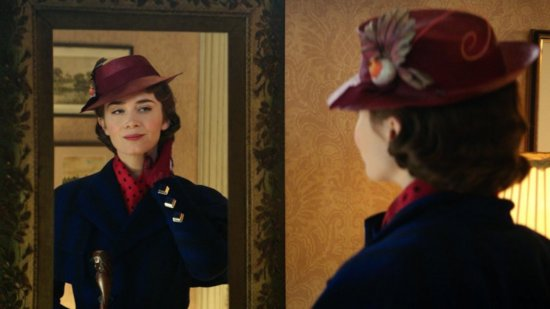 Mary Poppins portrayed by Emily Blunt.