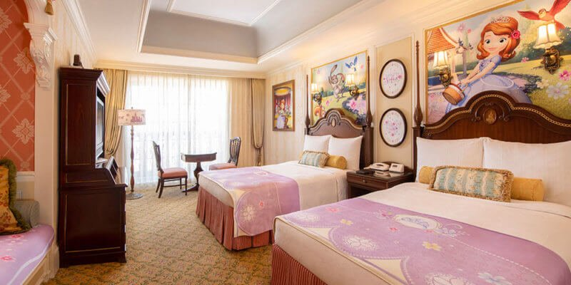 "Tokyo Disneyland Hotel ""Sofia the First"" room"